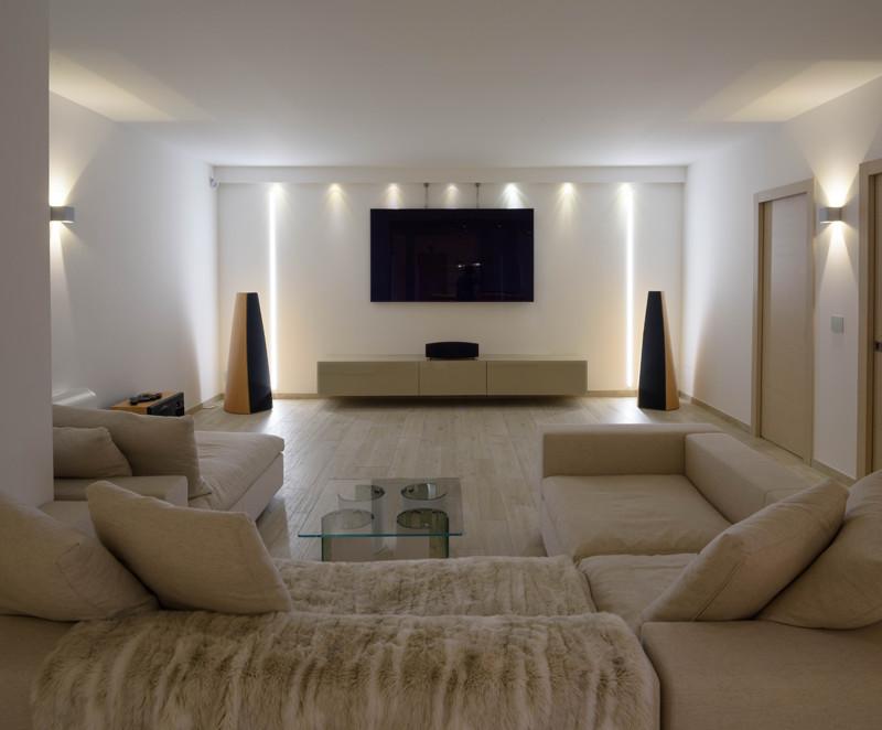 atmosfera luminosa salotto home teather living