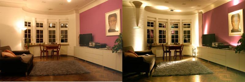 atmosfera luminosa corretta scorretta living room
