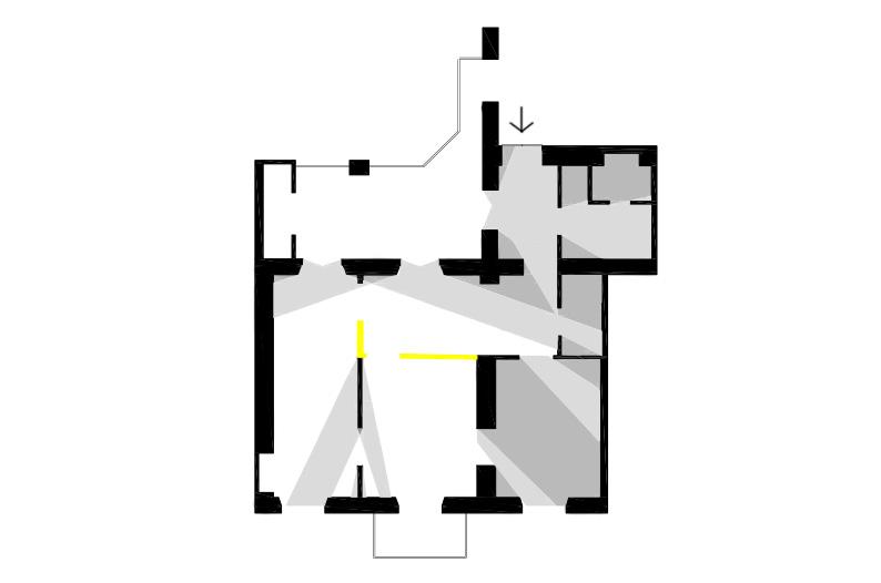 luce torino pianta piantina progettazione illuminotecnica appartamento privato illuminazione